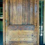porte entree sur mesure en bois vielli